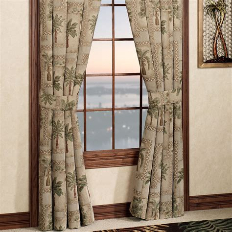 hawaiian curtains drapes palm tree curtains classic palm tree curtain set w