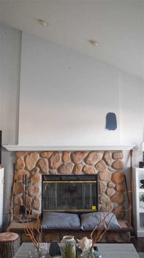 Wood Plank Wall Over Fireplace
