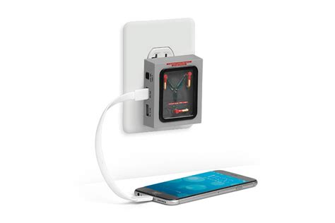 capacitor to battery charger flux capacitor wall charger charge your devices like doc