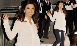 eva longoria looks expectant in blouse as she attends political eva longoria looks expectant in blouse as she attends