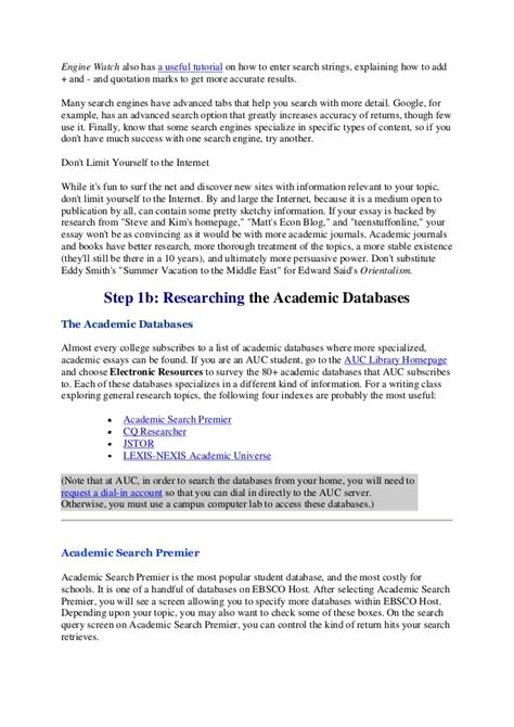 Essay Search by An Essay About Search Engines