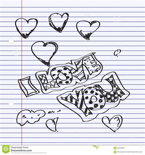 doodle you simple doodle of i you stock vector image 56946590