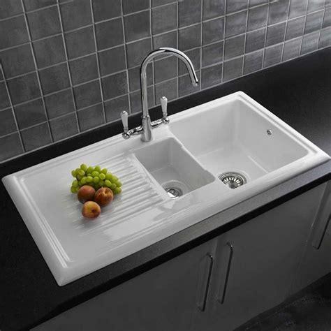 reginox traditional white ceramic  kitchen sink