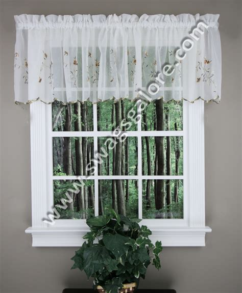 country style curtains valances loretta embroidered valance egg chocolate united