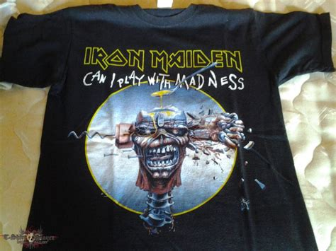Tshirt Iron Maiden 2 iron maiden can i play with madness maiden 2013 tour t shirt tshirtslayer tshirt and