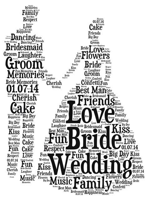 wedding word framed personalised groom wedding word a4 print