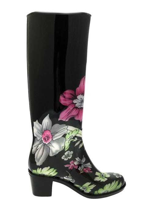 high heel boots uk womens high heel wellies waterproof wellington boots snow