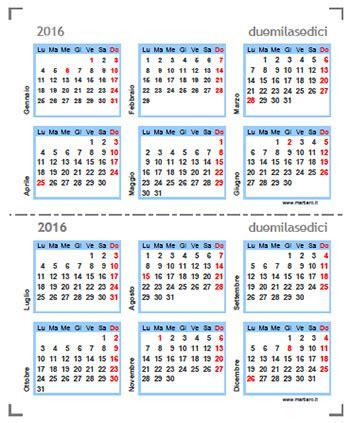 Calendario Serie A Excel Calendario 2016 Compatto Da Stare