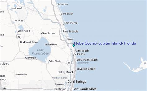 hobe sound jupiter island florida tide station location