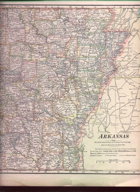 map of arkansas and texas 1895 antique map western texas arkansas railroad nicenr ebay