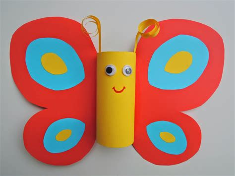 Butterfly Toilet Paper Roll Craft - toilet paper roll butterfly craft s and crafts