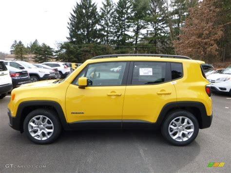 yellow jeep interior solar yellow 2016 jeep renegade latitude exterior photo