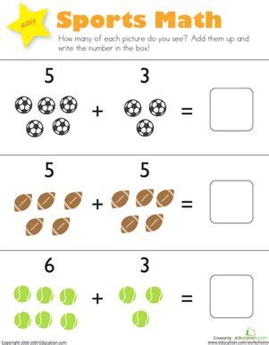 printable addition games for kindergarten sports math worksheet education com