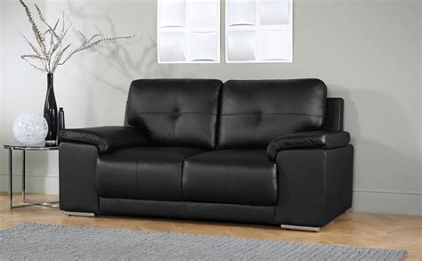 Two Seater Sofa Living Room Ideas Kansas Black 2 Seater Leather Sofa Only 163 399 99 Furniture Choice