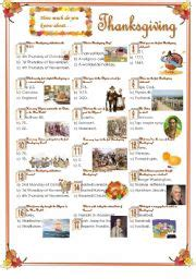 thanksgiving day trivia questions answers english exercises thanksgiving quiz