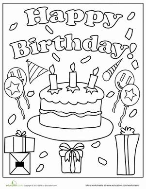 color in birthday card template birthday coloring pages worksheets birthdays and happy