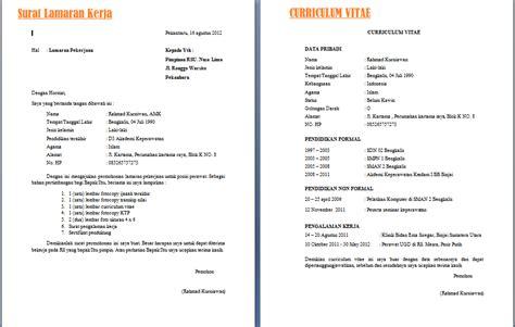 contoh surat lamaran kerja lulusan smk otomotif contoh cv lamaran kerja bagi pemula ben jobs