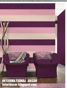 bedroom purple colour schemes modern design: striped kids room paints striped wall paints red and white