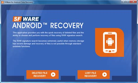 recovery for android free sfware for android data recovery by sfware for android data recovery v 1 0 0