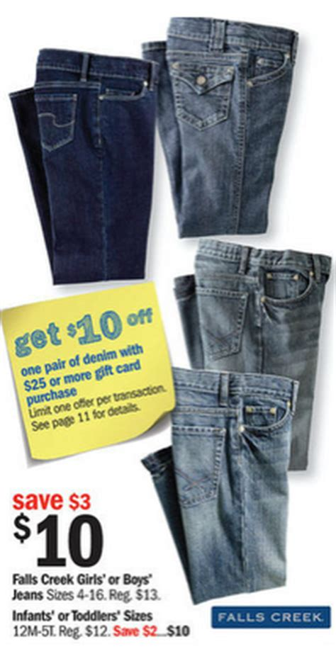 General Gift Cards At Meijer - meijer free falls creek kids jeans with 25 gift card purchase bargains to bounty