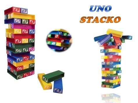 Uno Stacko Boardgame uno stacko stacking block toys end 9 28 2018 11 15 am