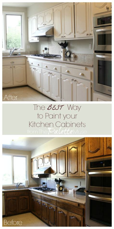 painting kitchen cabinets by yourself the best way to paint kitchen cabinets the palette muse