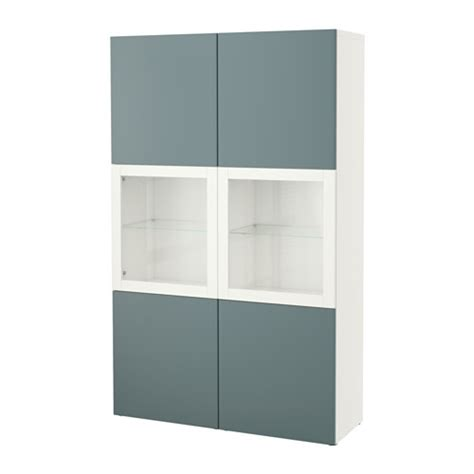 ikea besta display cabinet best 197 storage combination w glass doors white valviken