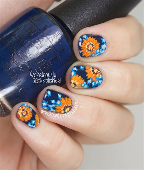 What Do Colors Mean wondrously polished nagg day 5 blue and orange daisy