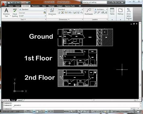 how to draw a floor plan in autocad autocad 2010 floorplan drawing youtube