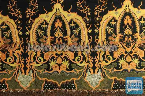 Gamis Batik Mahkota motif batik subang kotasubang