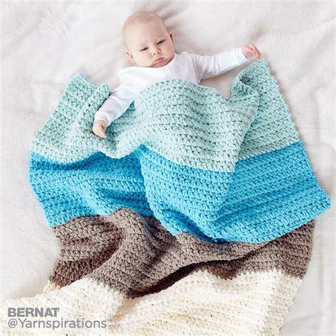 Crochet Baby Blanket Bernat by Colorblock Crochet Blanket Crochet Pattern Yarnspirations