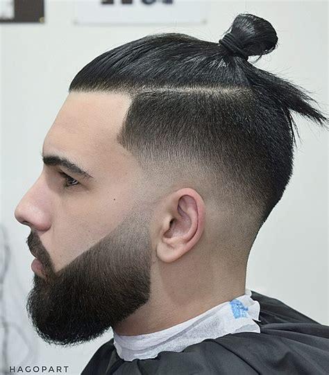 Buns Hairstyles Man | sumarai man bun hairstyles for men blurry fade