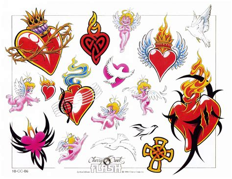 coloured heart tattoo designs awesome colored tattoos designs