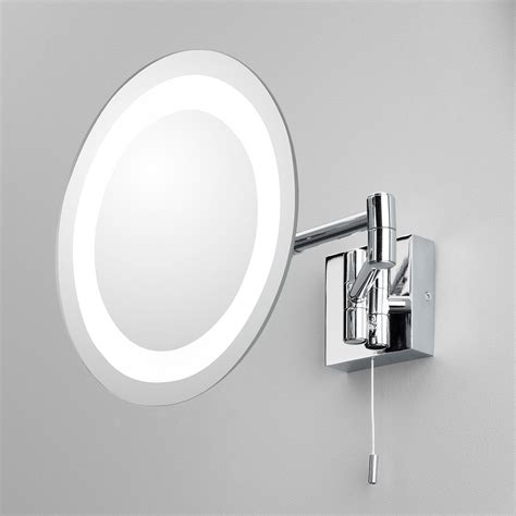 astro genova polished chrome bathroom mirror light at uk