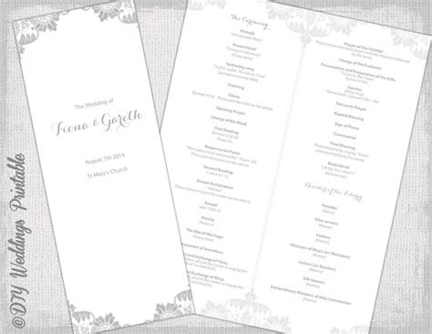 printable catholic program template gray antique