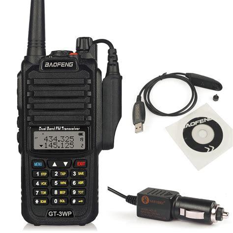 Walkie Talkie Car Type 3 baofeng gt 3wp ip67 waterproof dual band 2m 70cm ham two way radio walkie talkie programming