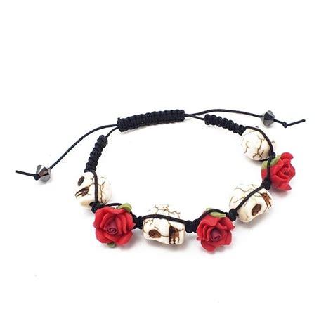 floral skull shamballa style bracelet kit the bead