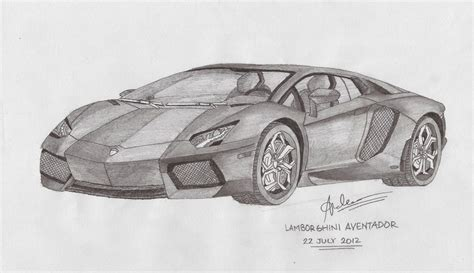Sketch Of A Lamborghini Lamborghini Aventador By Andr3wz94 On Deviantart