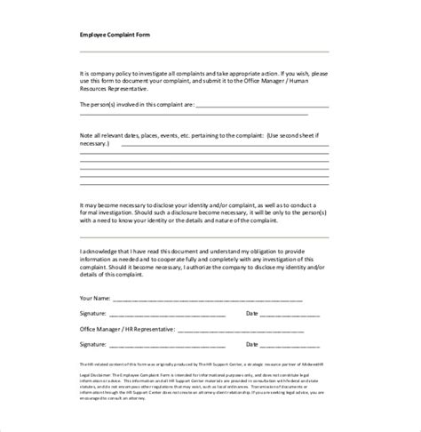 letter of harassment complaint template hr complaint letter 10 free word pdf documents