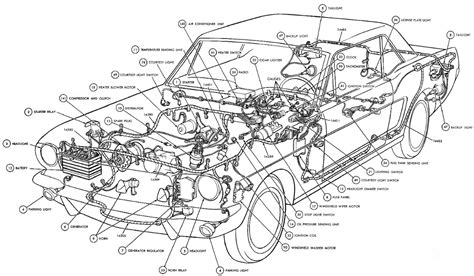 automotive diagrams car part diagram interior car car parts