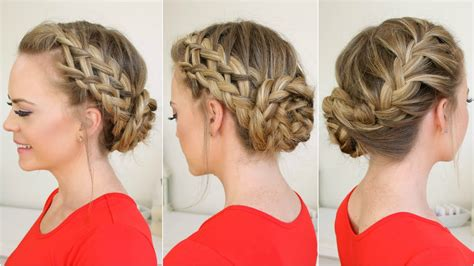 how to put braids into a bun waterfall dutch french braid into braided bun youtube