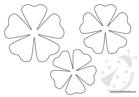 fiori da colorare sagome fiori da stare