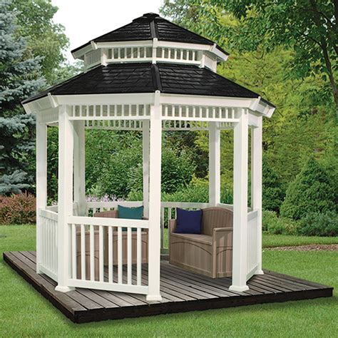 suncast awnings suncast 174 10x10 double roof gazebo 138484 awnings