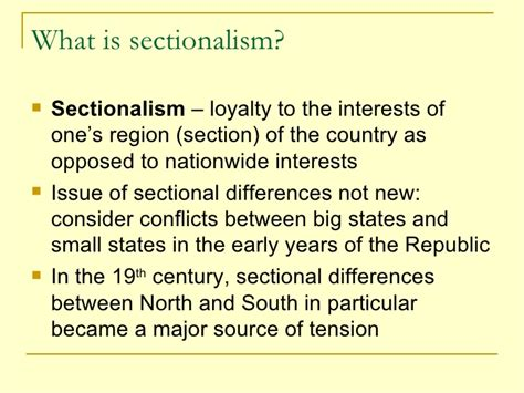 Sectionalism History Definition 28 Images Ssush8