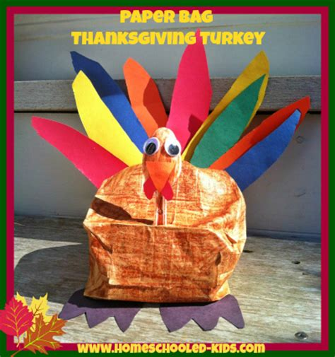 paper bag turkey craft thanksgiving crafts homeschooled