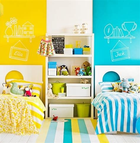 boy girl bedroom shared kids bedroom with separate beds for boy and girl