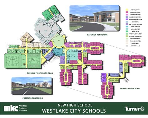 high school floor plan updated renderings floor plan boards westlake schools