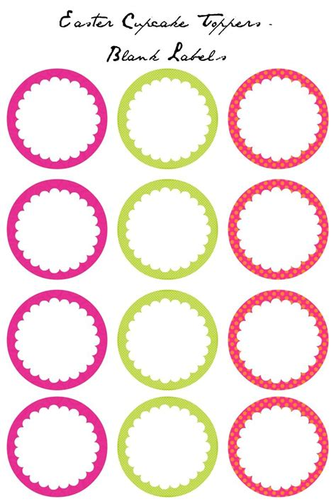 printable card toppers free easter cupcake toppers free printables blank labels