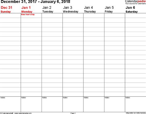printable weekly planner 2018 weekly calendar 2018 for word 12 free printable templates