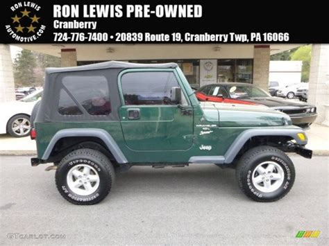 2001 forest green jeep wrangler sport 4x4 112452450 gtcarlot car color galleries